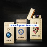 Buy cheap Car logo lighter USB ARC Pulse Charge Lighters flameless lighter product