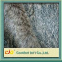 Buy cheap Brown / Grey Sofa Suede Fastcolours Artificial Fur Fabric with 70% Acrylic , 30% Polyester product