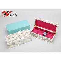 China Luxury Lacquer Wooden Watch Box OEM / ODM Logo Printing For Four Watch Package on sale