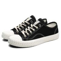 Buy cheap Non Slip Black Canvas Lace Up Shoes Shock Absorption Wear Resistant from wholesalers