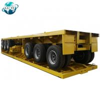 China 3 axle 20ft 40 ft Flatbed semi trailer on sale