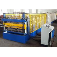 Buy cheap Double Layer Metal Sheet Roll Forming Machine For Two Trapezoidal Profiles from wholesalers