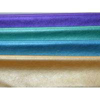 Buy cheap 257gsm Purple / Green / Blue / Beige PU Leather Cloth Fabric from wholesalers
