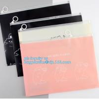 Buy cheap towel slider cosmetic bag, Slider Zip Poly Bag, office file bag with zipper/document file pockect, clear pvc zipper bag/ from wholesalers
