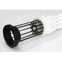 Buy cheap Mild / Stainless Steel Filter Bag Cage With 12 / 16 Wires Silicon Coating from wholesalers