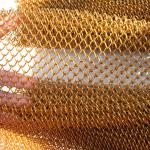 Buy cheap Gold Stainless Steel Diamond Shape Decorative Metal Mesh For Curtain Or Decoration from wholesalers