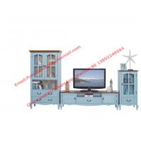 Buy cheap Mediterranean Style Living room Furniture by TV wall unit set Floor stand and from wholesalers