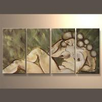 Buy cheap Modern Abstract Nude Oil Painting On Canvas from wholesalers