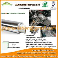 Buy cheap Aluminum foil laminated 160g fiberglass heating insulation barrel blankets from wholesalers