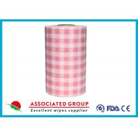 Buy cheap Plaid Pattern Spunlace Nonwoven Wipe Rolls In different Color, Breakpoint Available product