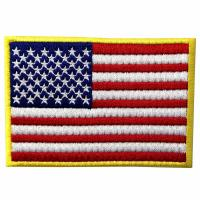 Buy cheap American US Flag Custom Velcro Patches / Washable Tactical Badges from wholesalers