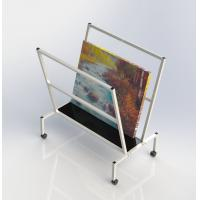 Buy cheap V - Shape Metal Oil Painting Frame Office Display Shelves Arts Bin Storage Stand from wholesalers