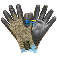 Buy cheap 10 Guage Kevlar Camouflage Knitted Shell With Nitrile Dipped Anti Cut Work Gloves from wholesalers