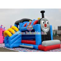 Buy cheap 0.55mm PVC Inflatable Childrens Bouncy Castle Thomas Train Bouncer from wholesalers