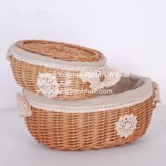Buy cheap wicker basket willow baskets storage baskets Cheristmas basket wicker bread basket from wholesalers