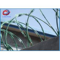 Buy cheap Single Loop Razor Barbed Wire Concertina Hot Dipped Galvanized Sheet Material from wholesalers