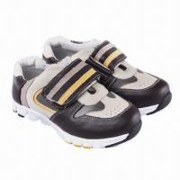 Buy cheap Children's running shoes, made of imported cow leather  from wholesalers