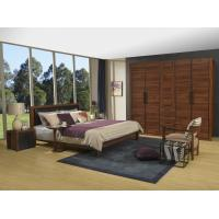 Buy cheap 2016 New Nordic Design Cow leather Headboard bed in Walnut wood Furniture and MDF panel Wardrobe in Wall cabinet product