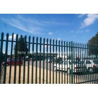 Triple Pointed Steel Picket Fence , Palisade Fencing And Gates Easily Assembled
