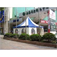 Color Stripe Top Cover Durable High Peak Pole Tent , High Peak Tent Rentals