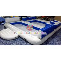 Buy cheap Ocean Inflatable Water Toys / Floating Island Raft Lounge For Family from wholesalers