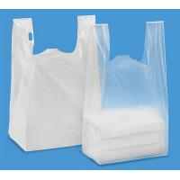 Buy cheap T Shirt Shopping Bags 13 mic . 1000/case ,WHITR Colour With Printing , HDPE material from wholesalers