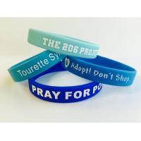 Buy cheap Personalised Embossed Silicone Bracelet  Printing Silicone Wristband On Sale from wholesalers