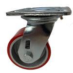 Buy cheap Tread Iron Heavy Duty Swivel PU Caster Wheel 100mm 125mm 150mm 200mm from wholesalers