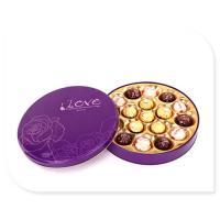 Buy cheap Ferrero Rocher Chocolate Tin Box With Plastic Insert Custom Printed from wholesalers
