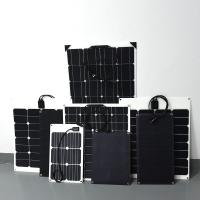 China Waterproof 50w Monocrystalline Etfe Camping Solar Panels Small Black Marine Pv Rollable on sale