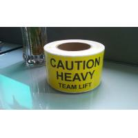 Buy cheap CAUTION HEAVY Team lift label from wholesalers