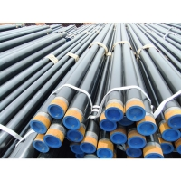 Buy cheap API 5L X60 ERW black round steel pipe dn200 welded steel pipe/Sch 40 black carbon steel pipe used for oil and gas pipe from wholesalers