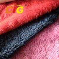 Buy cheap Tricot Plain Colorful Fake Fur Fabric 100% Polyester Width 150cm To 160cm product