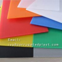 Buy cheap Good quality polypropylene pp plastic sheet fluted corrugated plastic sheet 2mm coroplast sheets from wholesalers