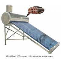 Buy cheap Pre heating solar hot water heater with copper coil heat exchanger from wholesalers
