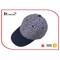 Buy cheap Printed Cotton Poplin Baseball Caps Hats , Cotton Twill Peak Baseball Caps For Men from wholesalers