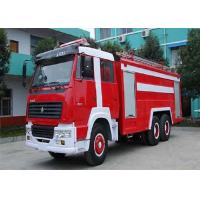 Buy cheap 12000L Fire Fighting Vehicle , 6 Seats Fire Service Truck High Visibility Multitasking from wholesalers
