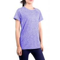 Buy cheap Breathable Short Sleeve Workout Shirts Casual Style Four Way Stretch Material from wholesalers
