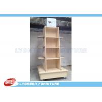 Buy cheap Mobile Wine Wooden Display Stands MDF Melamine Display Stand With Casters from wholesalers