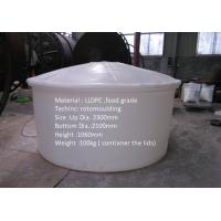 Buy cheap Huge Plastic Container Water Tank Round Type 50 000L for wine producing product