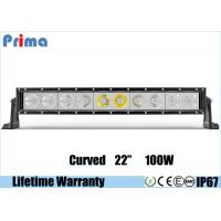 Buy cheap Single Row 22 Inch Cree Curved LED Light Bar 100W High Power Cool White 6000K Jeep Roof Bar from wholesalers