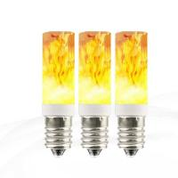 Buy cheap E14 g9 Flicker flame effect led lamp Simulation Burning Light Bulb from wholesalers