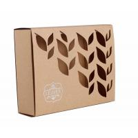China Carved Window Shell Wrapping Paper Box Slide Brown Kraft Paper Box For Cosmetics on sale