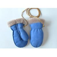 Buy cheap Warm Cozy Genuine Baby Boys / Girls Sheepskin Mittens with Ribbon for Winter from wholesalers