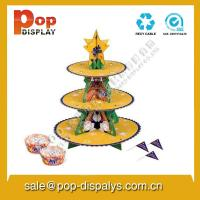 Buy cheap Foldable Cupcake Display Stands , Merchandising Display Racks from wholesalers