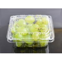 Buy cheap High Clear Grape Box Disposable Plastic Fruit containers from wholesalers
