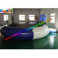Buy cheap Plato Durable Inflatable Water Toys Jumping Trampoline With Small Platform from wholesalers