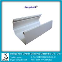 Buy cheap 2015 Hotsale 7 inch vinyl rain gutter and downspout for PVC drainage system from wholesalers