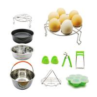 Buy cheap 10 Pcs Kitchen Accessories for 5,6,8 Qt, Steamer Basket Egg Rack Springform Pan Silicone Pot Holder Egg Bites Mold with recipe from wholesalers