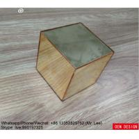 Buy cheap Gold Color Custom Acrylic Products Mirror Square Box Plexiglass from wholesalers